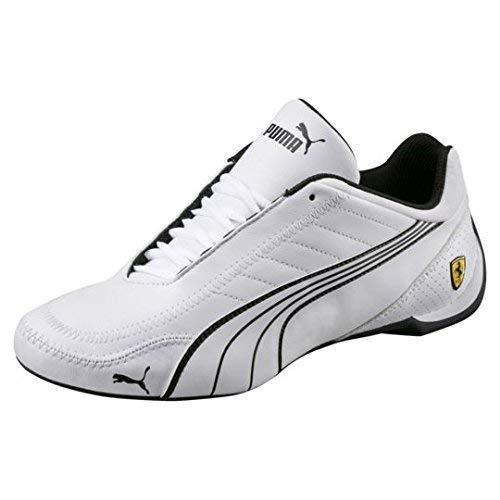 67071c98a17 PUMA Mens Ferrari SF Future Cat Kart Driving Athletic Shoes in White (11)