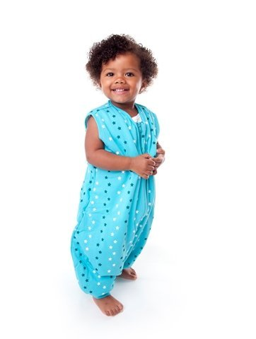 Slumbersafe Summer Sleeping Bag with Feet 1.0 Tog Simply Teal Stars 18-24 Months
