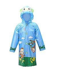 Orwine Kids Poncho Waterproof Hooded Coat Outwear Raincoat