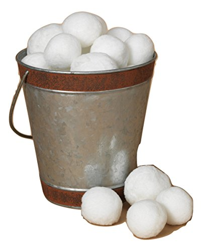 (36 Pack White Plush Indoor Snowballs Holiday Christmas)