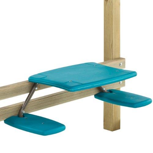 Dein-Spielplatz 1069601809 Anbau Picknicktisch 99.6 x 45 x 25.6 cm für Spielturm/haus/anlage, Pirate und Princess, türkis