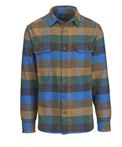 Multi Check Shirt - Woolrich Men's Oxbow Bend Flannel Shirt, Multi Check, XXLarge