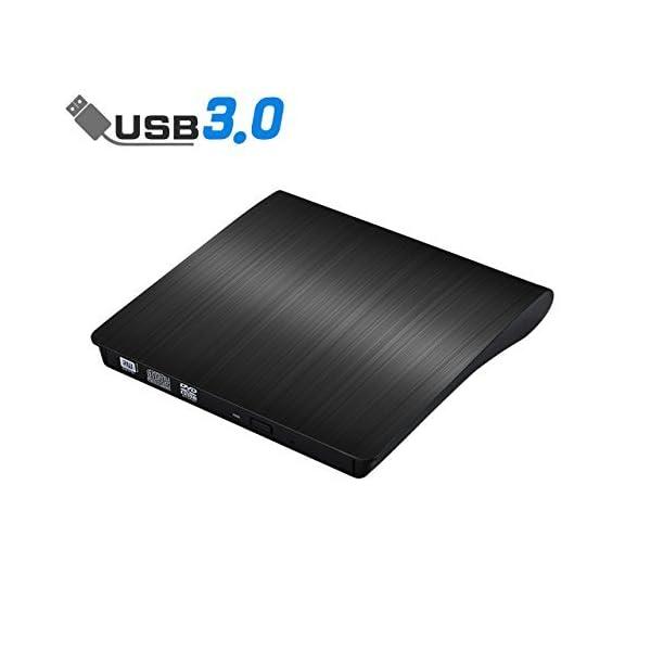External CD Drive, ACETEND USB 3.0 External DVD CD Drive, Burner High Speed Data...