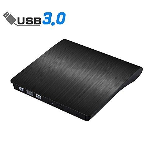 External CD Drive, ACETEND USB 3.0 External DVD CD Drive, Burner High Speed Data Transfer USB DVD Player for Laptop Notebook PC Desktops Support Windows/Vista/7/8.1/10, Mac OSX and Linux OS (Black) (Best Music Player Osx)