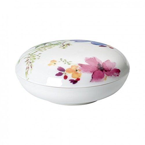 Villeroy & Boch Mariefleur Gifts Container, 11 cm, Premium Porcelain, Multicoloured/Pink/Yellow/Green