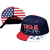 HTDBKDBK Hat for Women Men USA Print American Flag Snapback Cap Adjustable United States Baseball Cap Hat Navy
