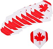 20 Pieces Durable Strong Standard Dart Flights Darts Accessory - 4 Kinds Available - Flag DesignProfessional P
