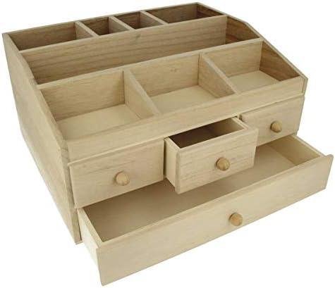 Artemio Grande Caja Joyero 4 cajones Decorar, Madera, Beige, 34 x 27 x 18 cm: Amazon.es: Hogar