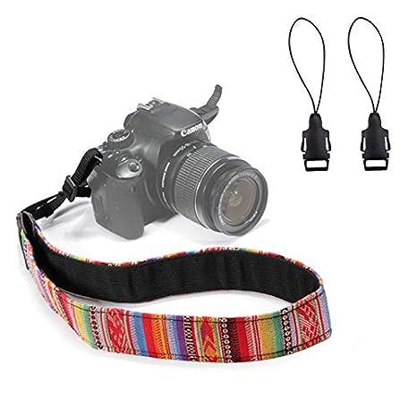 Wanby - Correa para cámara réflex Digital Canon Nikon Sony Pentax ...