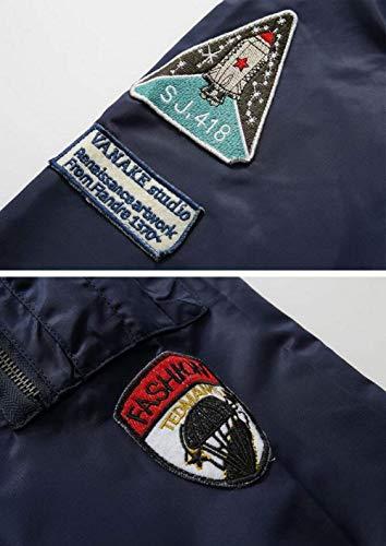 Chaqueta Clásica Fuerza En Vuelo Deporte V Acolchado Ropa De Hombre Y Chaqueta Aérea Cuello con Ligero Invierno para Otoño Casual Azul para Chaqueta Bombardero FwOaqa