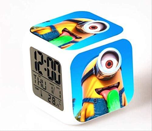導かれた時計の子供の漫画のおもちゃを変えるデジタル目覚し時計色