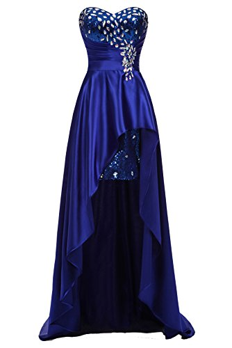 Ever-Beauty Womens Rinestones Sweetheart High Low Prom Dress Long ...