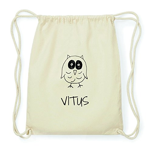 JOllipets VITUS Hipster Turnbeutel Tasche Rucksack aus Baumwolle Design: Eule