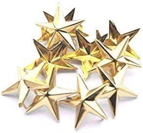 50 Pcs Star Studs Metal Claw Beads Nailhead Punk Rivets with Spikes Gun Metal//Black, 20 Mm