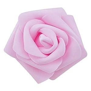 Rose Heads - TOOGOO(R) 100pcs / bag 6cm Foam Rose Heads Artificial Flower Heads Wedding Decoration (light pink) 95