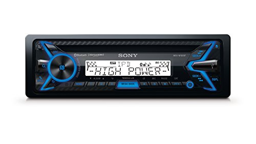 Sony MEXM100BT 160W RMS Marine CD Receiver with Bluetooth (Black) and SiriusXM Ready (Sony Amp And Subwoofer)