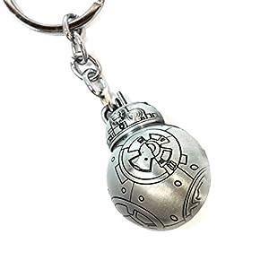 Teri's Boutique Star Wars Movie BB-8 Robot Men Teen Fan 3D Keychains (Silver)