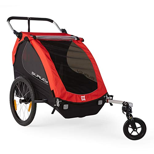 Flag Burley - Burley Honey Bee, 2 Seat Kids Bike Trailer & Stroller