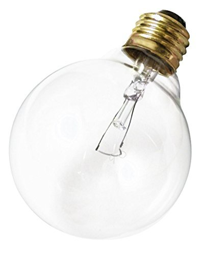 Satco 40G25 Incandescent Globe Light, 40W E26 G25, Clear Bulb [Pack of 12]