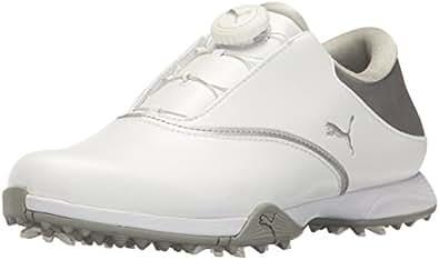 PUMA Golf Women's PG Blaze Disc Golf Shoe, White Silver, 10 Medium US
