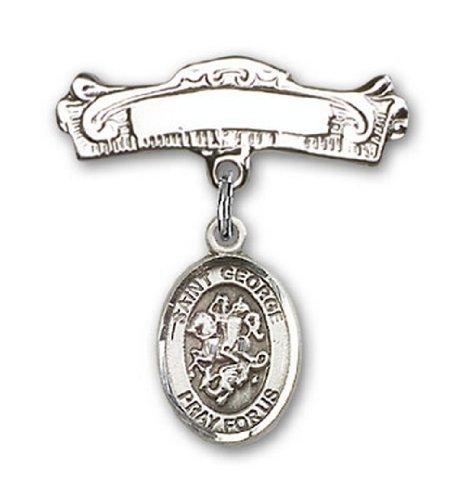 Icecarats Créatrice De Bijoux En Argent Sterling St. George Charme Broches Badge Arc 7/8 X 7/8