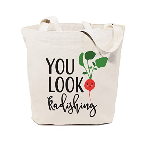 Price comparison product image The Cotton & Canvas Co. You Look Radishing Reusable Grocery Bag and Farmers Market Tote Bag