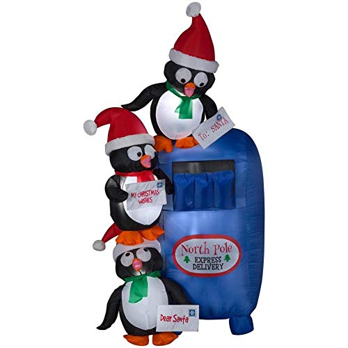 Holiday Living 6-ft x 3.38-ft Lighted Penguin Christmas Inflatable