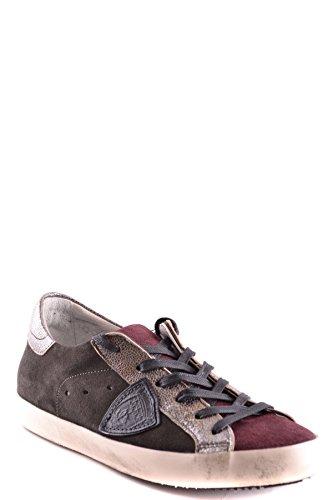 Philippe Model Ladies Mcbi238059o Sneakers Multicolore In Pelle Scamosciata