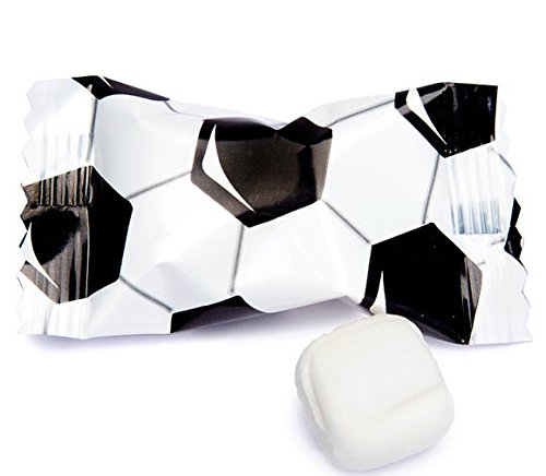 Soccer Themed Buttermints 100 Count Wrapped - Mint Candy ()