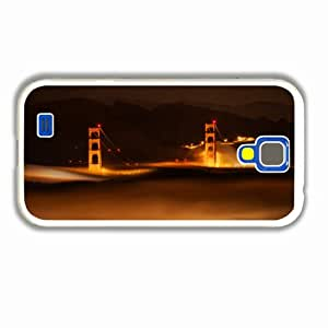 Tailor-Make Samsung Galaxy Cases S4 3D The Little Mermaid City Chicago Bridge Fog Night Of Unique Gift White Case Cover For Girl