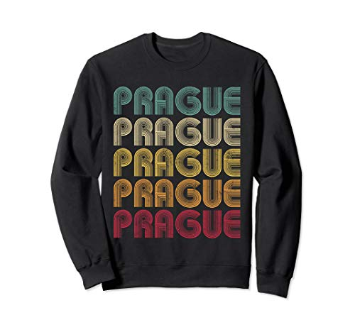 PRAGUE Czech Republic Vintage Retro Sweatshirt Men Women -