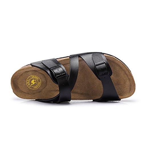Casual Sandali Con Cinturini Per Donna Sandali Flip Flop Platform Plantare Colore Nero Taglia 39 M Eu