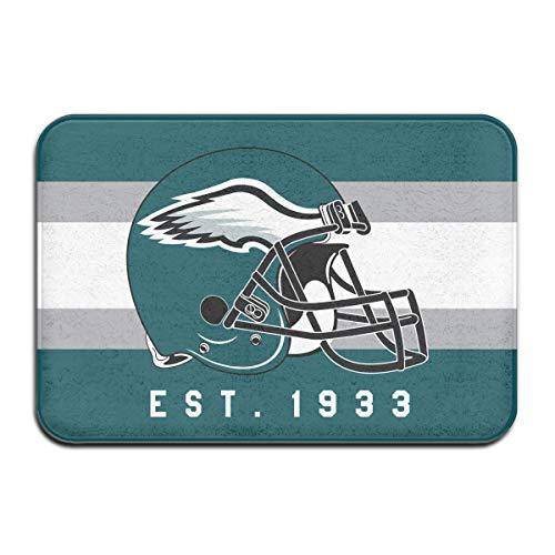 Jacoci Custom Philadelphia Eagles Doormats Non Slip Heavy Floor Door Mats Rugs Bahroom Decor Standard Size 15.7 X 23.6 Inches
