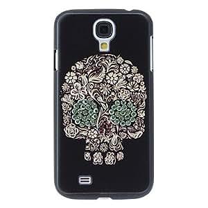 GX Diseño especial del caso duro del patrón del cráneo con el Rhinestone para Samsung i9500 Galaxy S4