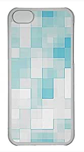 iPhone 5c case, Cute Blue And White Squares iPhone 5c Cover, iPhone 5c Cases, Hard Clear iPhone 5c Covers