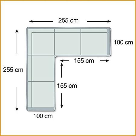 237x237 cm L-Form Premium Schutzhülle für Eck-Loungegruppe