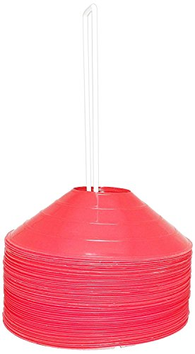 BlueDot Trading  Sport Disc Cones (100 Pack), Red by Bluedot Trading