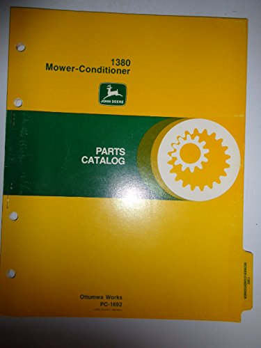 John Deere 1380 Mower Conditioner Parts Catalog Book Manual Original PC1692