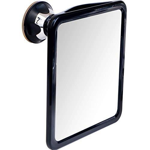 powerful 2019 Shatterproof Fogless Shower Mirror For Fog Free Shaving with Upgraded Suction  Swivel, Portable and Travel Ready, 8