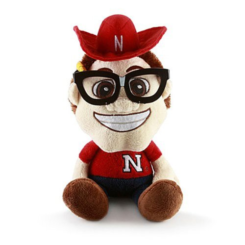 Fabrique Innovations NCAA Nebraska Cornhuskers Study Buddy Mascot, Medium, Red