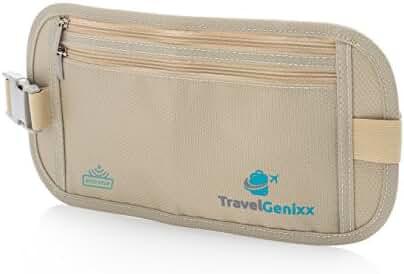 Money Belt Waist Pack and Passport Holder Travel Accessory for Men and Women