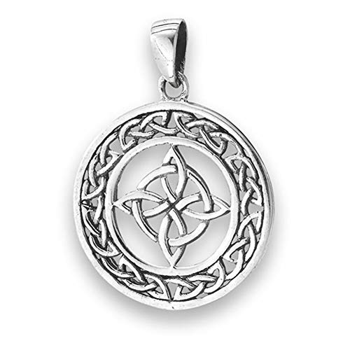 (Knot Celtic Pendant .925 Sterling Silver Infinity Band Cross Loop Circle Charm Jewelry Making Supply Pendant Bracelet DIY Crafting by Wholesale Charms)