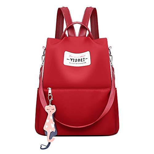 fibbia piccola Rosso Catena Zaini Sylar Zaino con Casual Bag scuola Borsa borse dorata spessa e da da fragranza Large donna moda wfnz70fRS