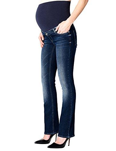 ESPRIT Maternity Pants Denim Otb Bootcut, Vaqueros Premamá para Mujer azul (Darkwash 910)