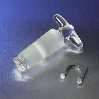 Corning 7680-2 Pyrex Standard Taper Straight Bore Stopcock Plug 2 mm Plug Bore