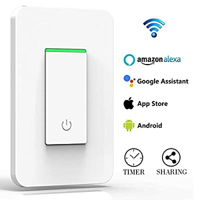 Arvin Light Switch, Compatible with Alexa In Wall Light Switch Mobile Phone APP Remote Alexa Control Sensitive Touch Wireless Light Swtich