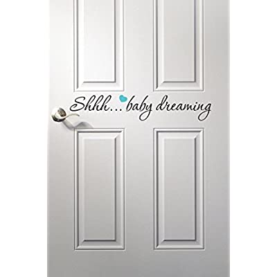 Baby Dreaming Wall Decal Quote - Nursery Room Decor - Nursery Wall Decals - Baby Room Decoration Vinyl (22inches): Baby