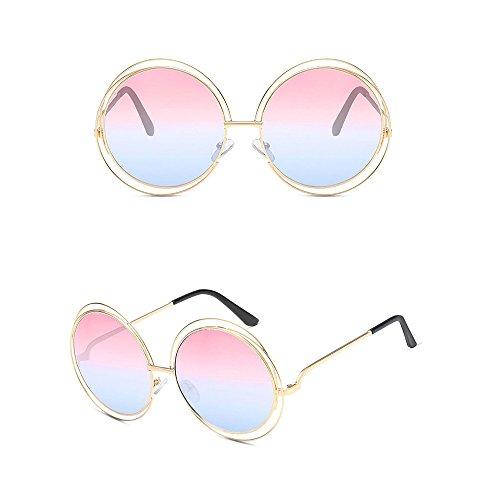Quotidien Lunettes Eyewear pour Soleil Vacances Vintage nbsp;Protection Wicemoon Ronde Soleil de pour UV400 Forme Lunettes Femme de au HwnCxT6q