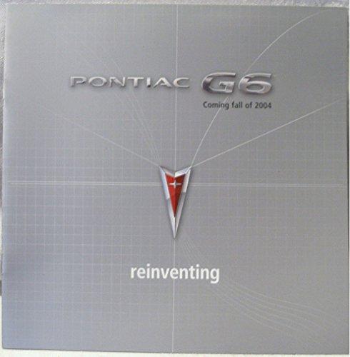 2005 PONTIAC G6 ADVANCED COLOR SALES BROCHURE - USA !! EXCELLENT ORIGINAL !!