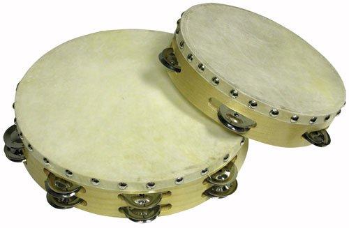 Cannon UPTAMB10S06H 10-Inch Single 6PRS Tambourine with Head